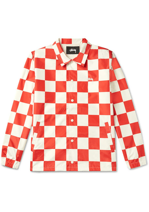 Stüssy - Checkerboard Shell Coach Jacket - Red