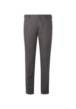 Paul Smith - Charcoal Slim-fit Puppytooth Wool Suit Trousers - Charcoal