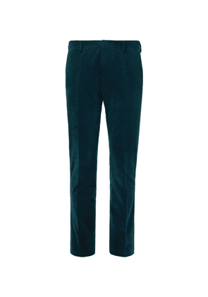 Paul Smith - Teal Slim-fit Cotton And Cashmere-blend Corduroy Suit Trousers - Teal