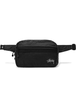 Stüssy - Mesh And Ripstop Belt Bag - Black