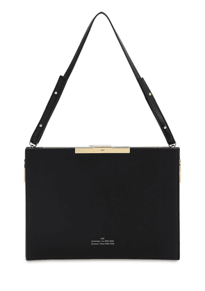 File C Leather Top Handle Bag