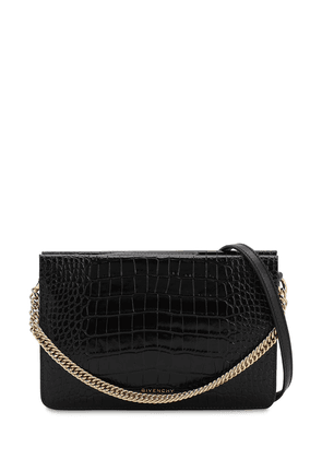 Cross3 Croc Embossed Leather Bag