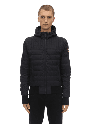 Cabry Hooded Down Bomber Jacket