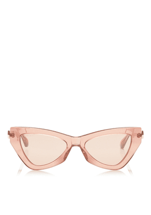 DONNA Pink Flash and Silver Cat Eye Sunglasses with Pink Glitter