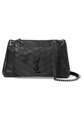 SAINT LAURENT - Nolita Medium Quilted Leather Shoulder Bag - Black