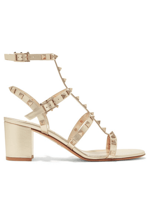 Valentino - Valentino Garavani The Rockstud 60 Leather Sandals - Gold