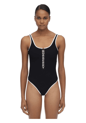 Logo Stretch Lycra Bodysuit