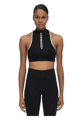 Stretch Nylon Crop Top
