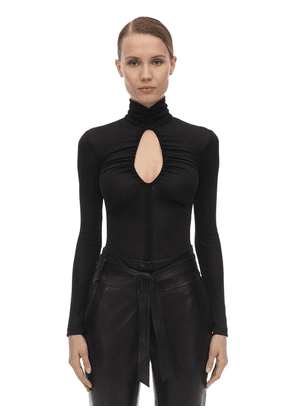 Draped Lurex Bodysuit