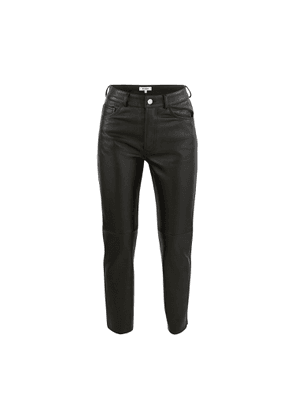 Leather 50s cigarette trousers