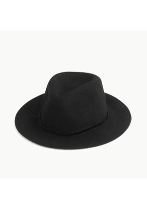 Western hat with velvet band