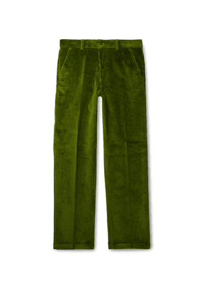 AMI - Green Cotton-corduroy Suit Trousers - Green