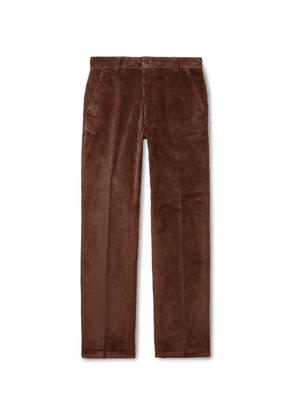AMI - Brown Cotton-corduroy Suit Trousers - Brown