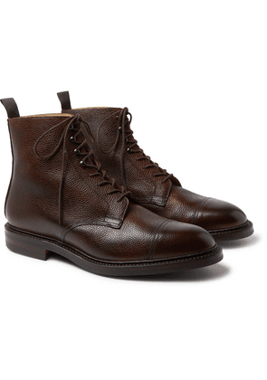 Purdey - Full-grain Leather Boots - Brown