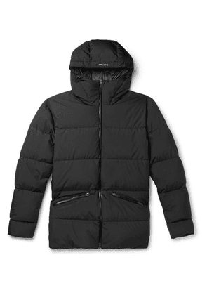 Herno Laminar - Quilted Gore Windstopper Hooded Down Jacket - Black