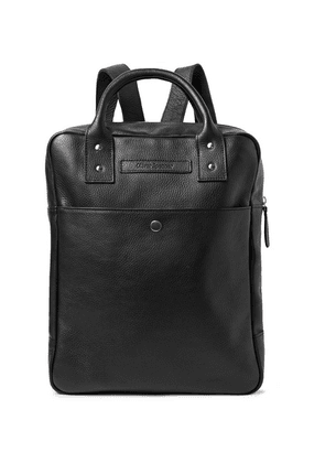 Oliver Spencer - Full-grain Leather Backpack - Black