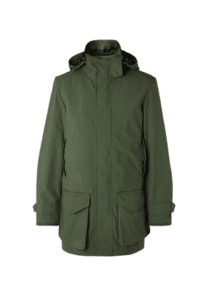 Purdey - Snipe Shell Hooded Coat - Green