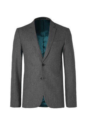 PS Paul Smith - Grey Slim-fit Mélange Wool-flannel Suit Jacket - Gray