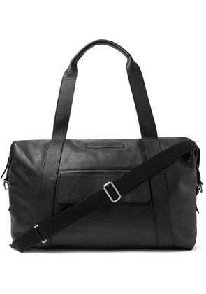 Oliver Spencer - Pebble-grain Leather Holdall - Black