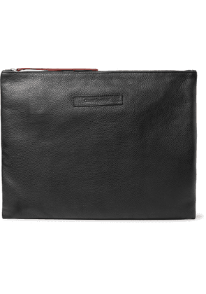 Oliver Spencer - Logo-debossed Textured-leather Pouch - Black