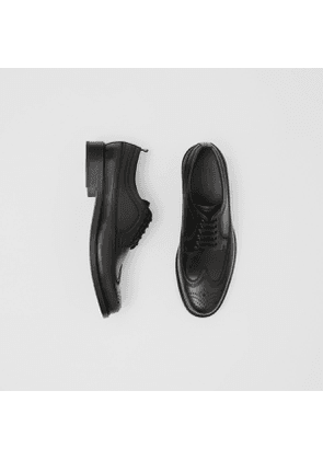 Burberry Brogue Detail Leather Derby Shoes, Black