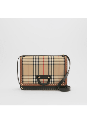 Burberry The Medium Leather and Vintage Check D-ring Bag, Beige
