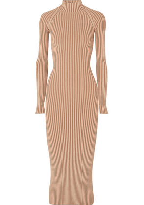 Dion Lee - Cutout Ribbed-knit Midi Dress - Copper