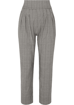 The Line By K - Ibina Prince Of Wales Checked Woven Pants - Gray
