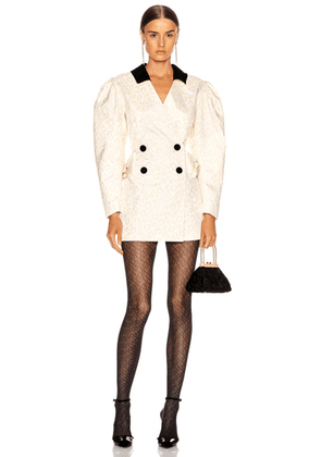 MARIANNA SENCHINA Jacket Dress in Milky - Animal Print,Neutral. Size XS (also in S,M,L).