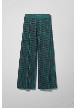Wassily Pleated Velvet Trousers - Turquoise