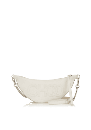 FAYE Latte Nappa Leather Belt Bag with Embossed Choo Logo