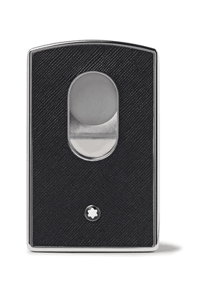 Montblanc - Sartorial Cross-grain Leather And Silver-tone Card Case - Black
