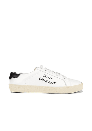 Saint Laurent Signature Sneakers in White & Black - White. Size 36 (also in 35,35.5,37,38,39,40,40.5,41).