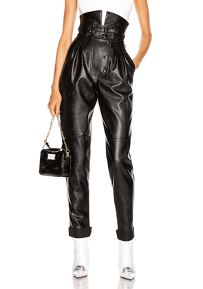 Maison Margiela High Waisted Pant in Black - Black. Size 38 (also in ).