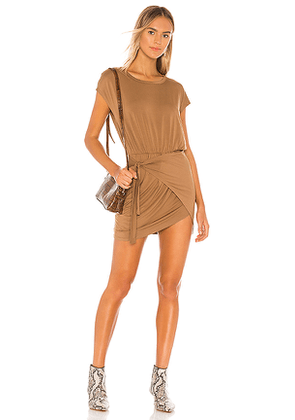 Lovers + Friends Tarin Mini Dress in Tan. Size M,S,XL,XS,XXS.