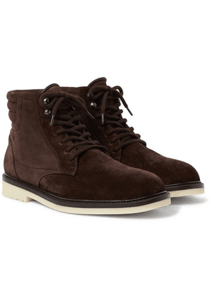 Loro Piana - Icer Walk Shearling-lined Suede Boots - Chocolate