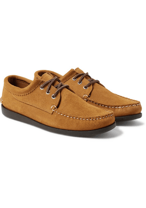 Quoddy - Blucher Suede Boat Shoes - Light brown