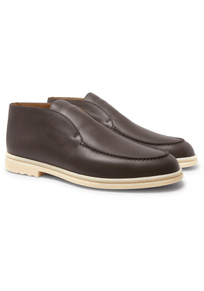 Loro Piana - Open Walk Leather Boots - Brown