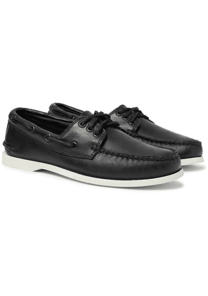 Quoddy - Downeast Leather Boat Shoes - Black