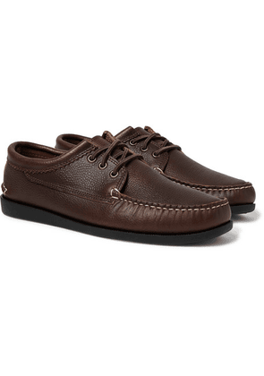 Quoddy - Blucher Leather Boat Shoes - Brown