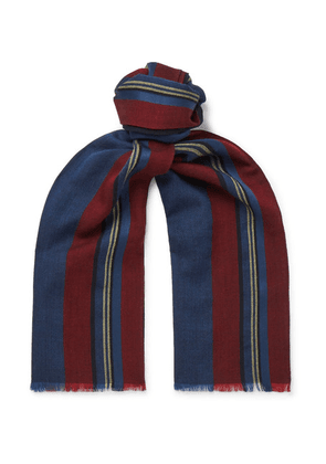 Favourbrook - Striped Virgin Wool And Silk-blend Scarf - Multi