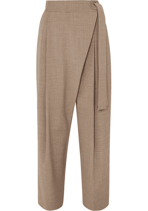 LE 17 SEPTEMBRE - Draped Woven Tapered Pants - Beige