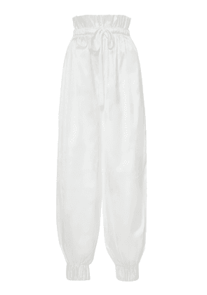 White Story Anouk Silk-Satin Tapered Pants Size: 8