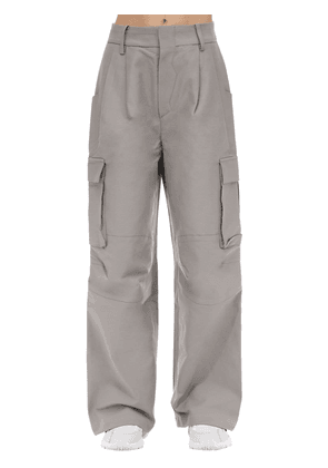 Oversized Cotton Cargo Pants