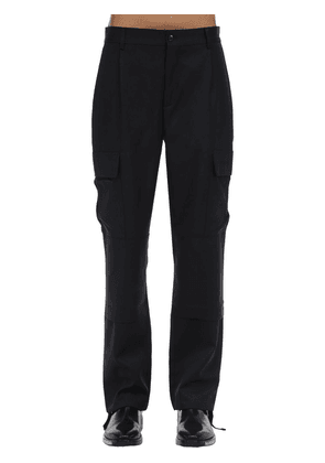 Tailored Virgin Wool Cargo Pants