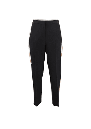 Tapered trousers with contrast bands