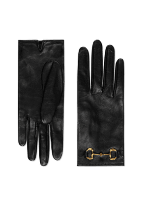 Leather gloves with Horsebit