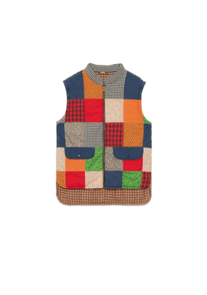 Patchwork vest with Gucci Band