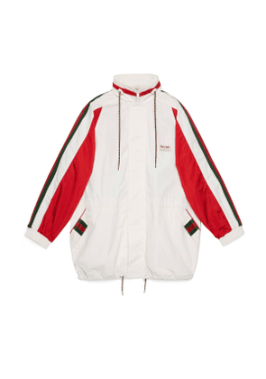 Cotton canvas jacket with Gucci label