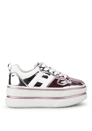 Maxi H449 Patent Leather Platform Sneakers